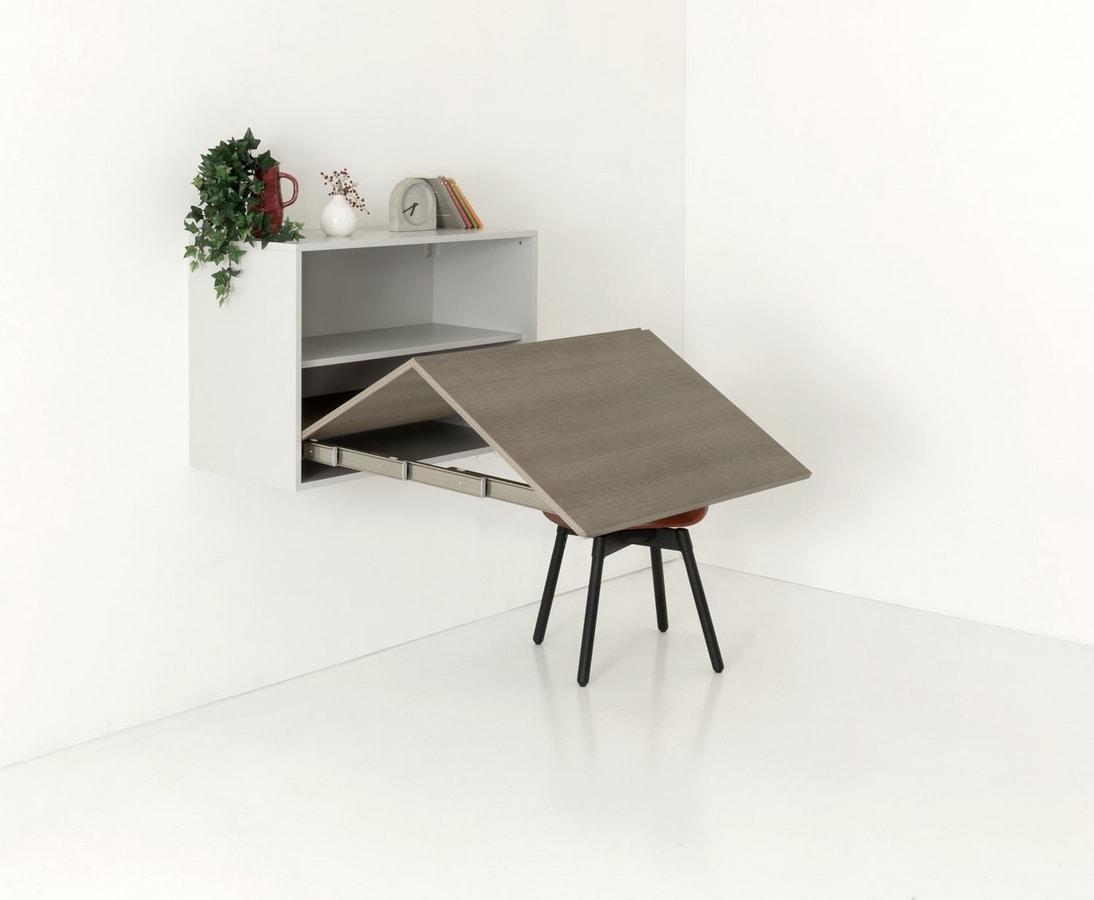 a111 metropolis, Wall unit convertible into a table