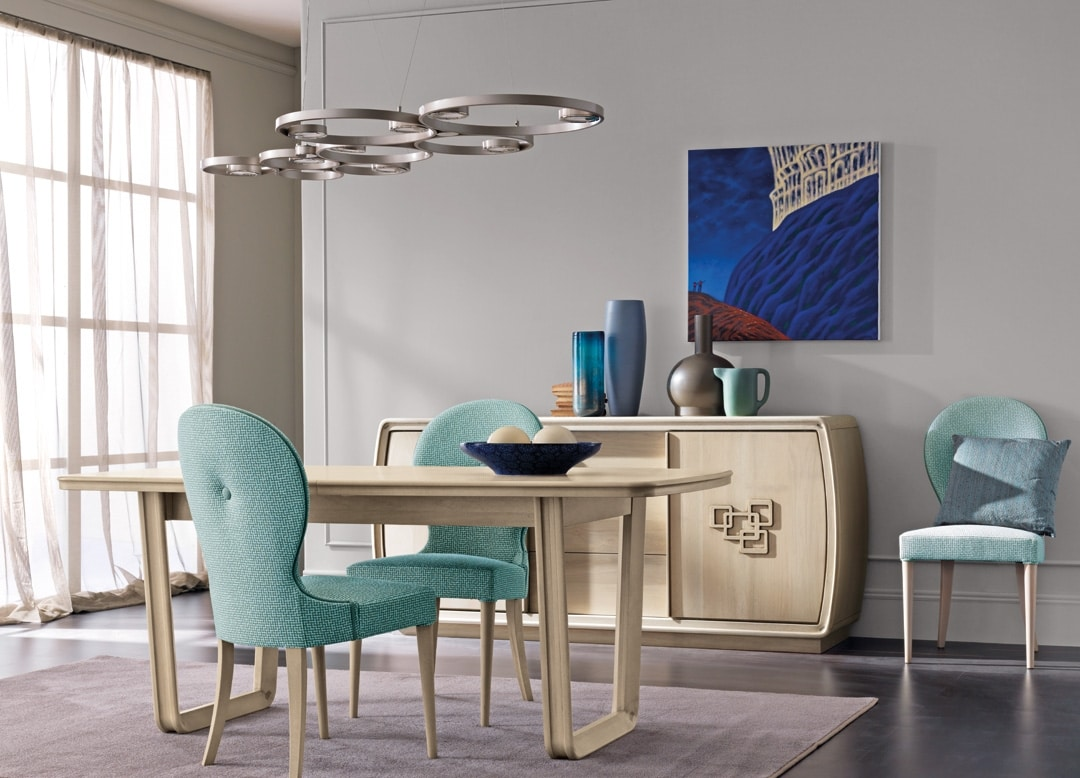 Amarcord Art. AM009/G, Extendable wooden dining table