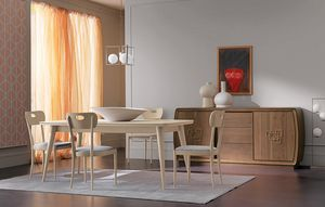 Amarcord Art. AM009, Wooden table with extendable top