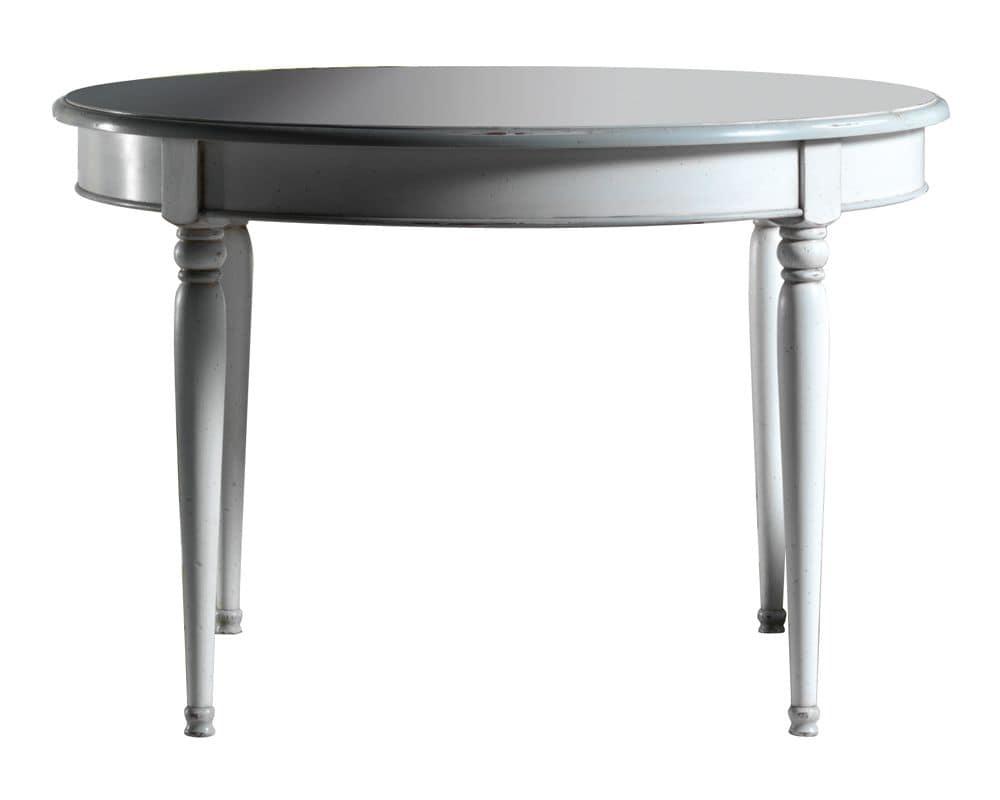 Amélie BR.0109, Extendible round table, classic style