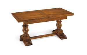 Art. 52, Extendable walnut wood dining table