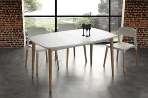Art. 622 Olaf, Extendable table made of solid wood