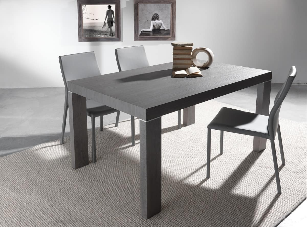 Art. 627 Wind, Extendable table with multiple extensions, available in various finishings