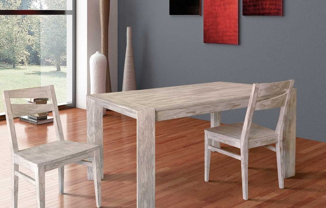 Art. 654, Wooden table with two internal extensions