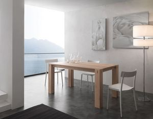 Art. 694 Factory, Ash wood table, extensible