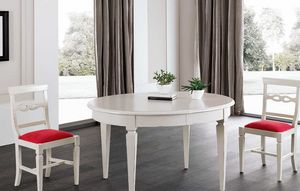 Art. 93, Oval table in white lacquered wood