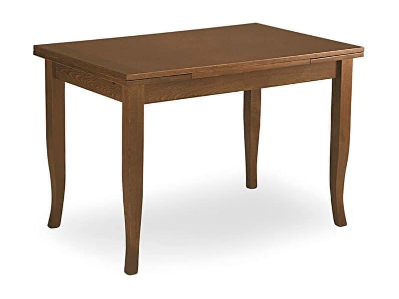 Arte Povera, Extendable table, saber legs, for restaurant