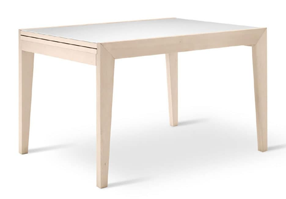 Solid Beech Table Extendable For The Kitchen IDFdesign - Extendable beech dining table