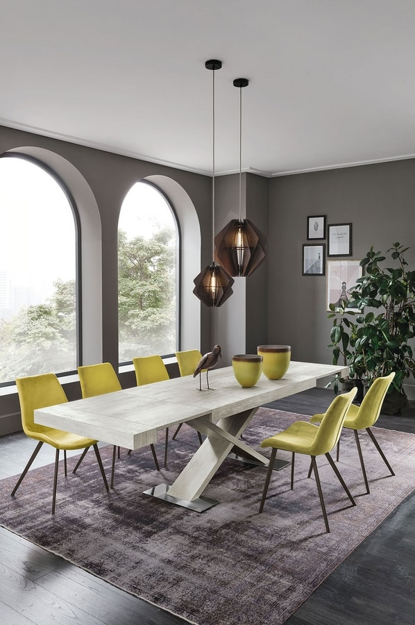 ASTERION 160 TA1C5, Modern extendable dining table