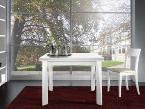 Complements Table 06, Extendable table in wood, for restaurants