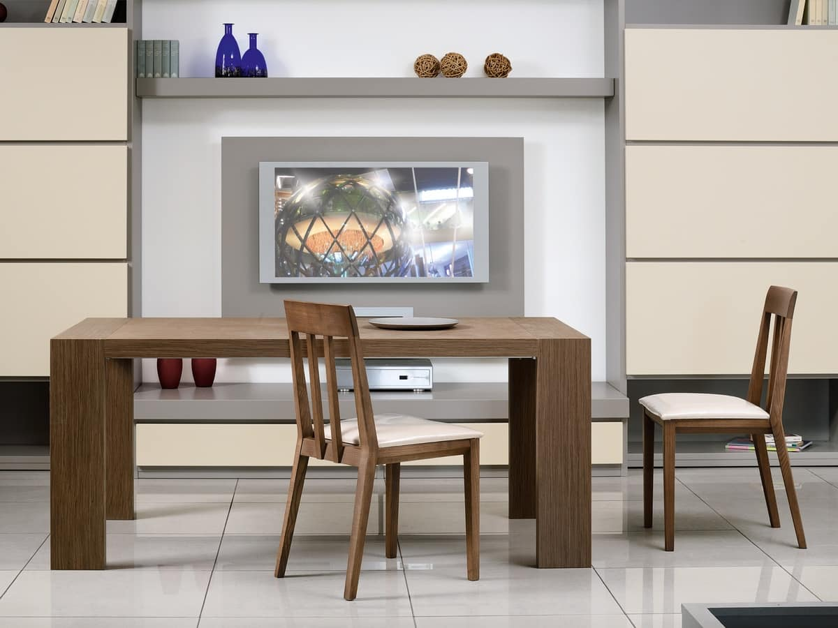 Complements Tables and Console 03, Extendable rectangular table for dining room