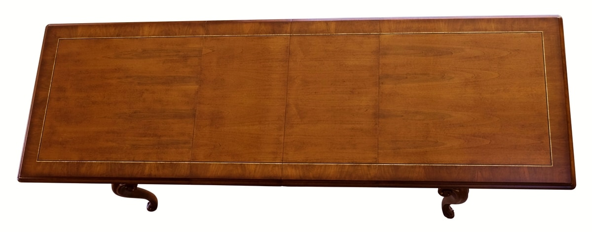 D'Arezzo RA.0675, Walnut extension table, for classic dining rooms