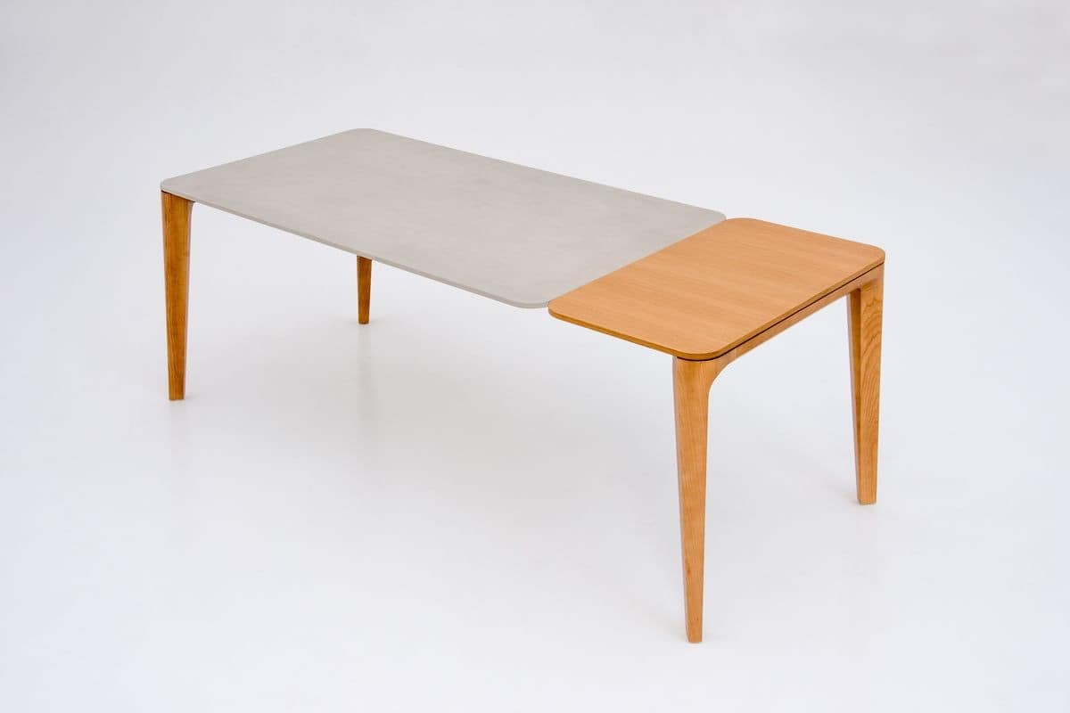 DAFNE, Extendable table in wood for dining room
