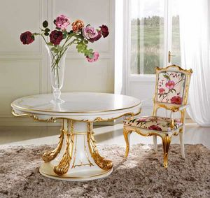 Delizia round table, Luxurious extendable round table