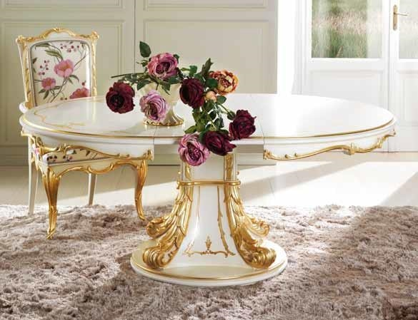 Delizia round table, Luxurious extendable round table