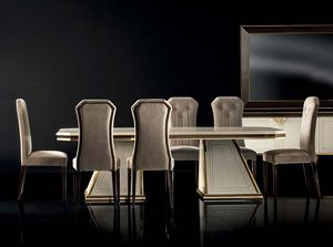 DIAMANTE extendable table, Luxurious dining table with extensions