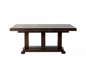 Downtown tavolo rettangolare, Extending table, in wood