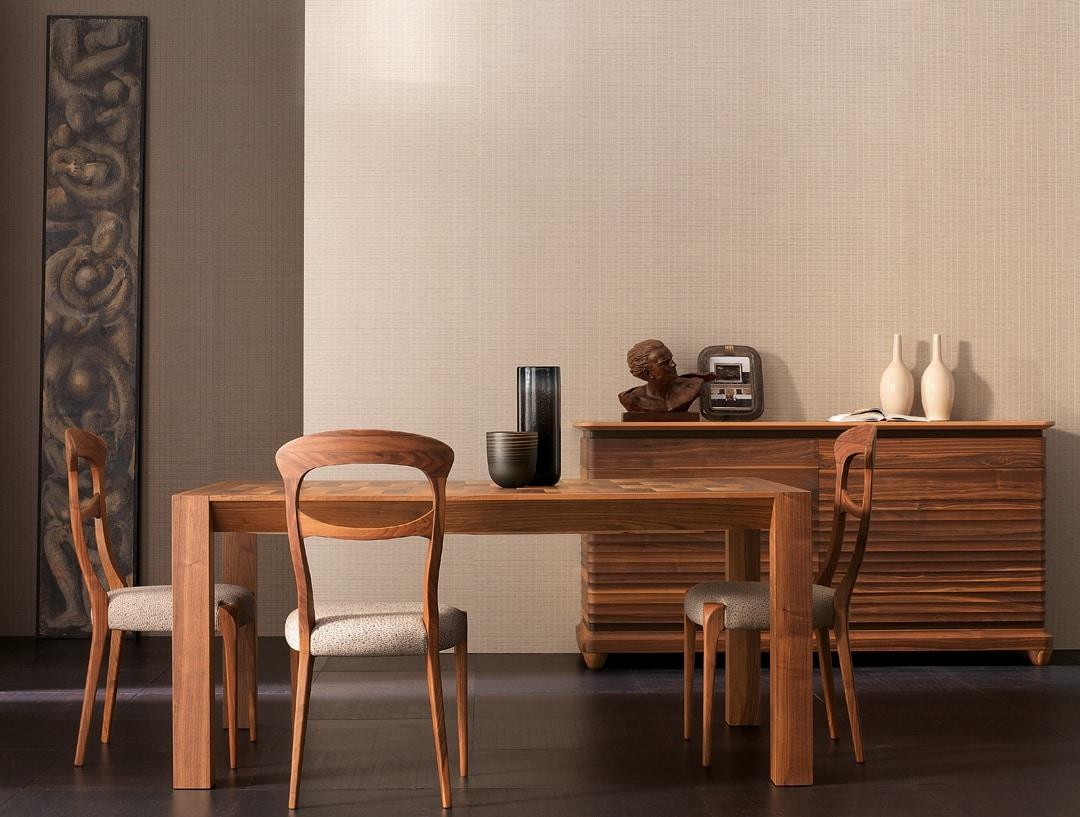Elettra Art. EL136, Extendable wooden table