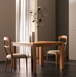 Elettra Art. EL138, Extendable table in walnut wood