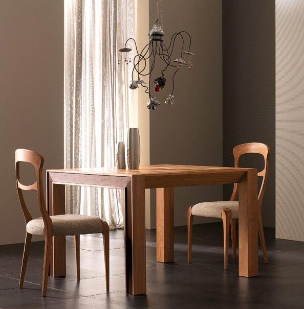 Elettra Art. EL138, Extendable table in walnut wood