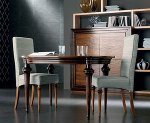 Etoile Art. ET009/B/MO, Wooden table with extendable oval top