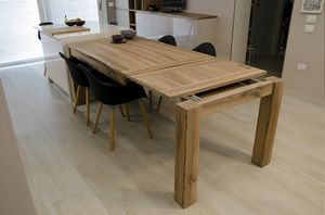 Eva table, Extendable table in solid wood