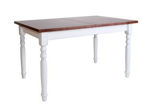 Extendable table, Pine table, with extendable top