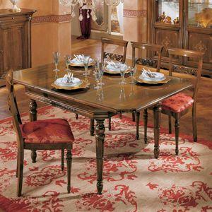 I Dogi di Venezia DOGI-E608, Square extendable table, in classic style