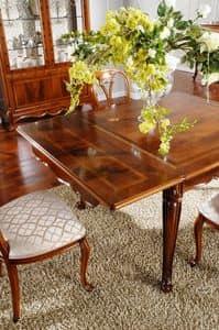Tavoli Da Cucina Allungabili Classici.Classic Oval Mirror In Solid Wood Carved Idfdesign