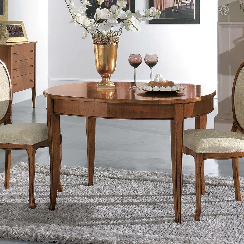 Oval table RAFFA590, Extendable oval table