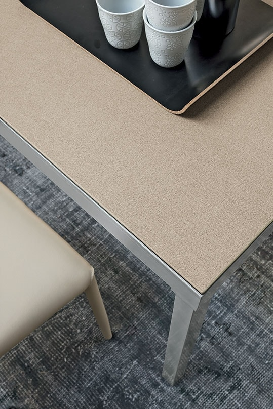 PERIGEO 115 TA161, Table with metal base, laminate top, modern style