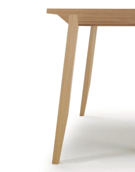 Pigreco, Extendable table with wooden top, for dining room