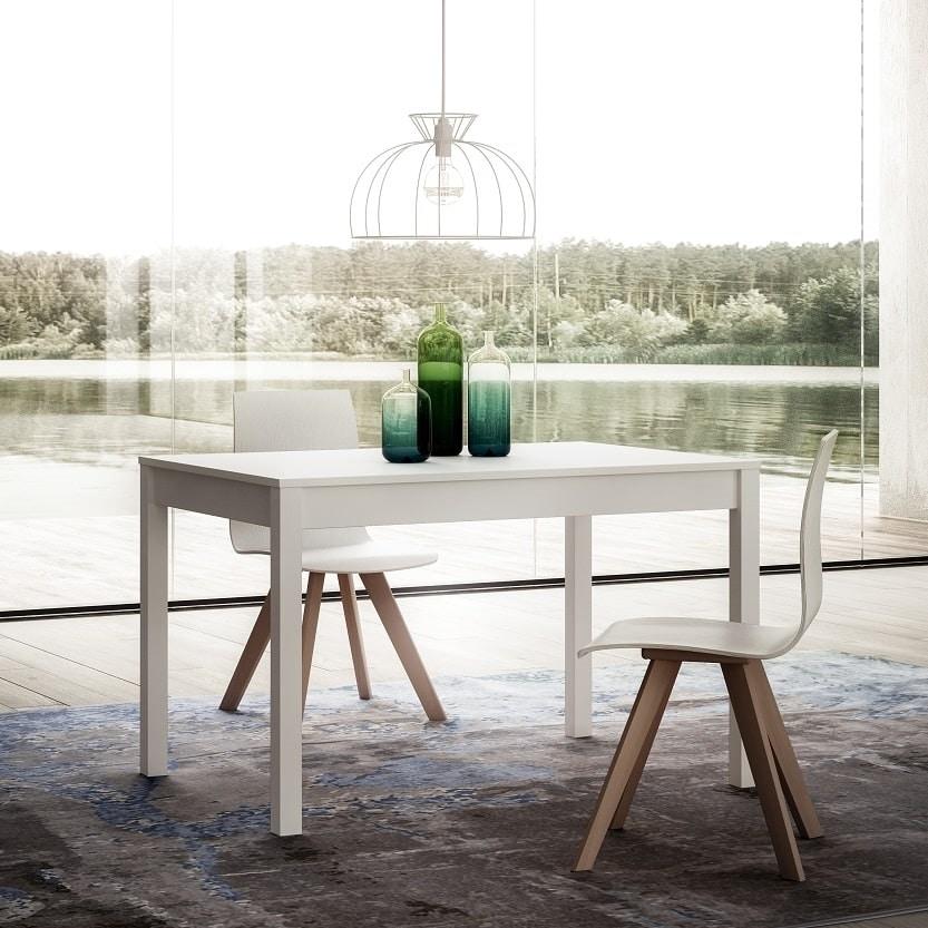 Polar, Extendable wooden table