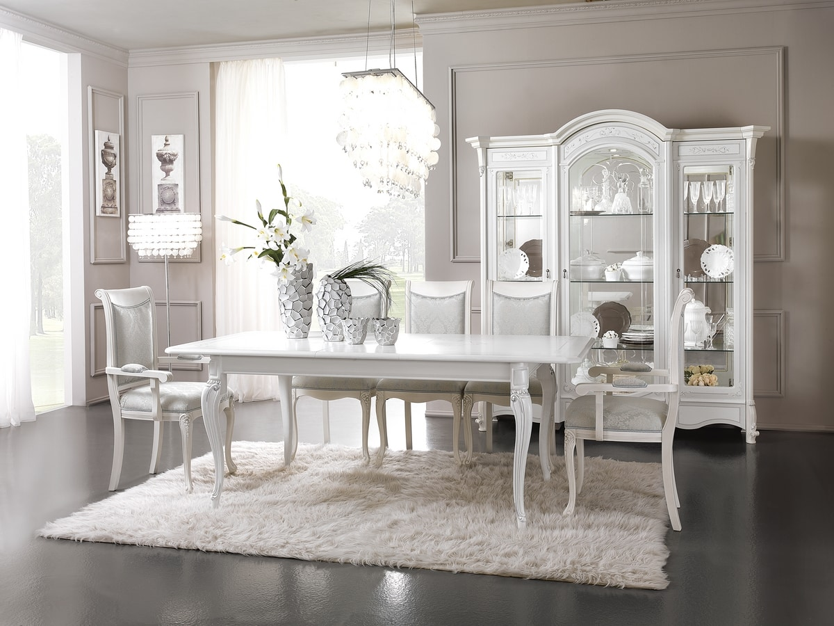 Prestige Art. 613 - 620, Dining table in lacquered wood