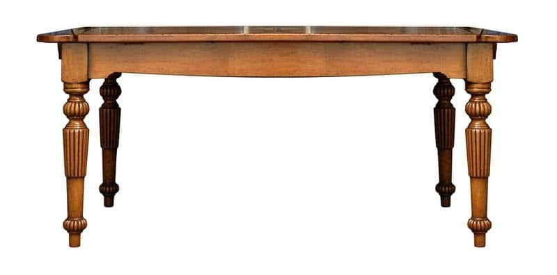 Sandrine BR.0104, Rectangular extendible table, classic style