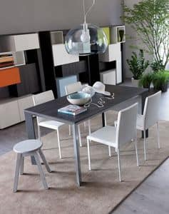 Secret, Extendable aluminium table ideal for residential