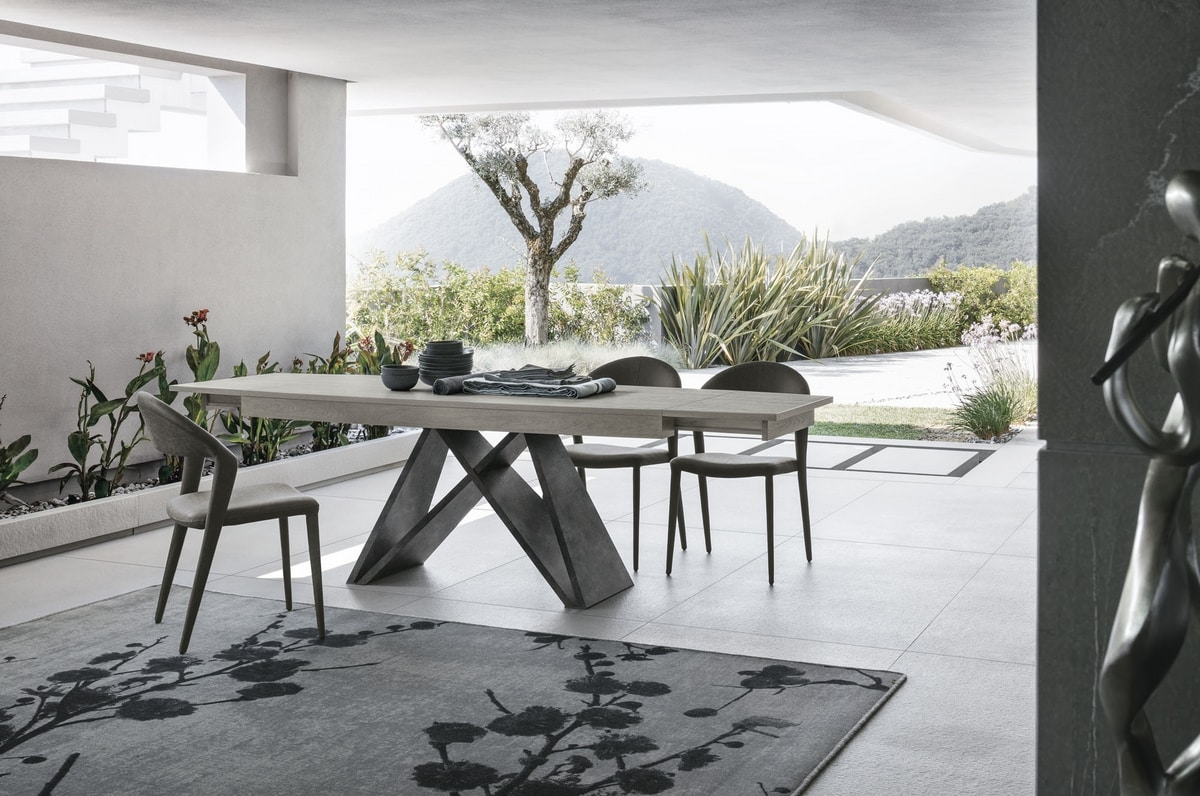 SIGMA 180 TA517, Extendable dining table