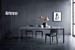 Soffio, Linear table for living rooms, modern style