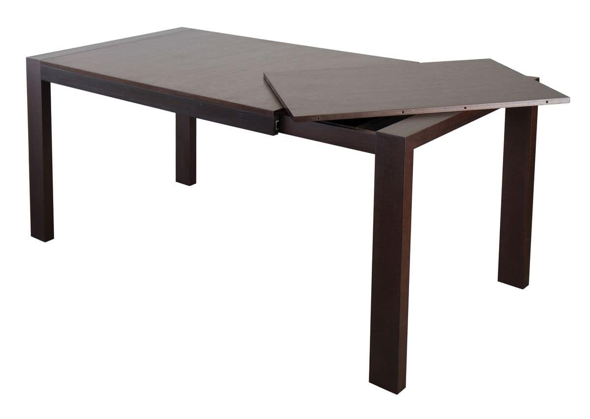 TA11, Modern extendable table in solid ash wood