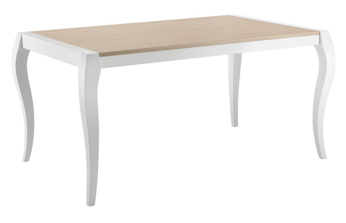 TA28, Extendable rectangular table with veneered top