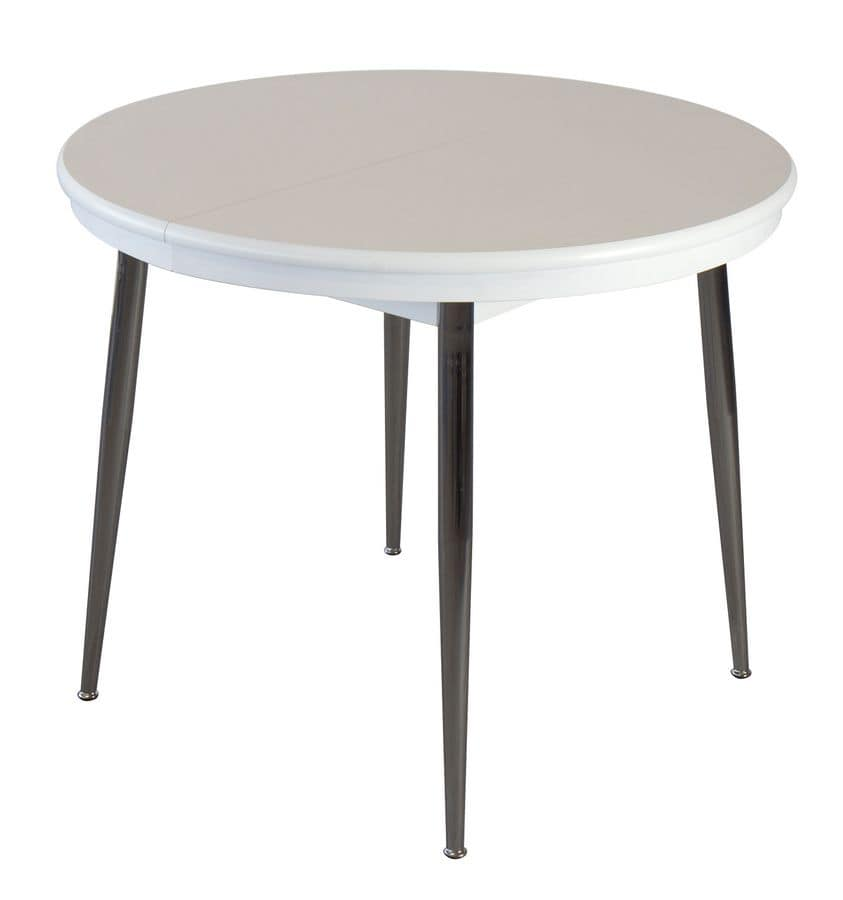 TA34, Oval extendable table, for kitchen, restaurants and bars
