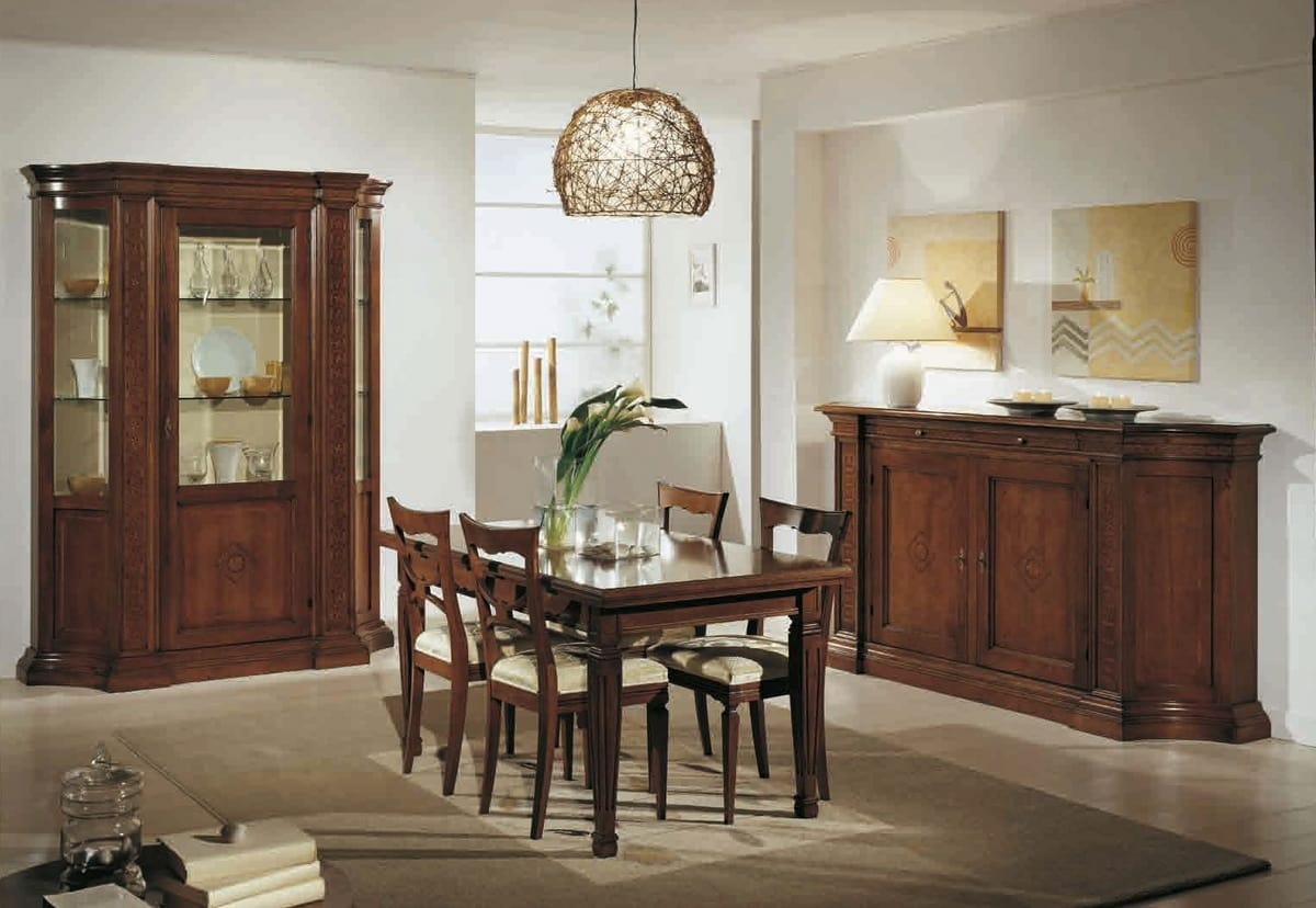 Tiziano table, Classic table with extensions