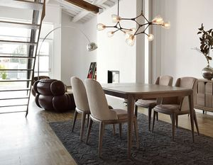 Tolomeo table, Extendible rectangular table with tapered legs