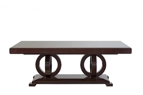 Tosca table, Extendable wooden table, with veneered top