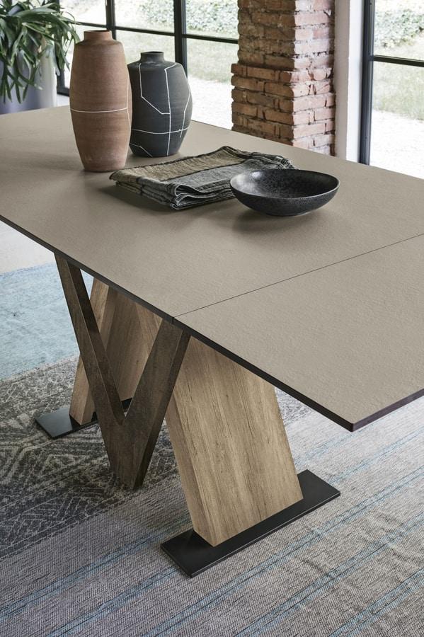TRITONE 130 TA515, Extendable table in laminate