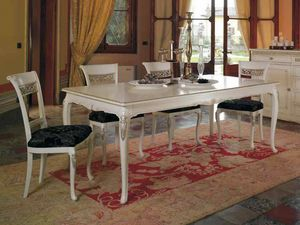 Villa table, Classic table, with precious carvings