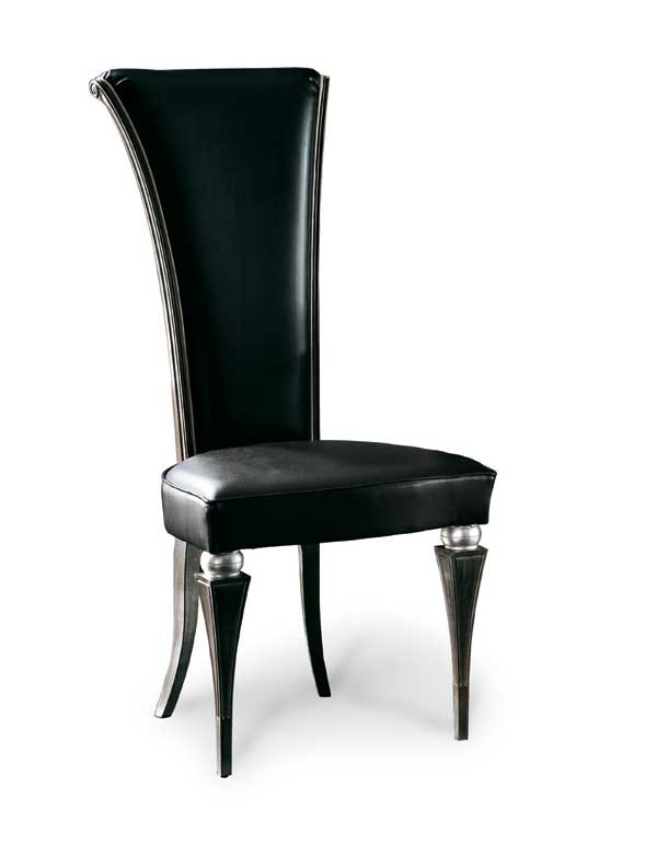 Art. 181/P, Elegant dining chair with high back