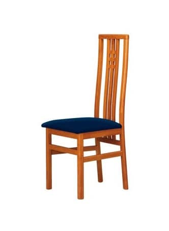 C05, Beech chair with high back, padded seat