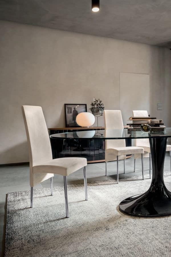 CHARONNE, Modern dining chair with high back, for restaurant