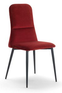 Corinne, Upholstered chair with high back